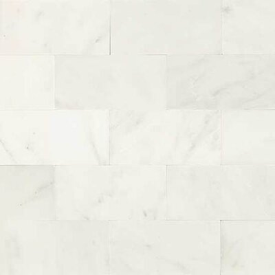 Harrison 6 x 3 Unpolished Natural Stone Field Tile in First Snow