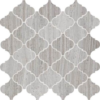 Stone Mosaics Baroque 13 x 13 Polished Natural Stone Field Tile in Chenille White