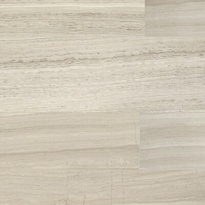 Limestone Collection Vein-Cut 12 x 2 Lightly Polished Natural Stone Field Tile in Chenille White
