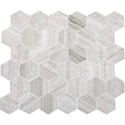Oxford Hexagon Honed 2 x 2 Natural Stone Field Tile in Chenille White