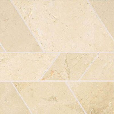 Stone Mosaics Modern 12 x 12 Polished Natural Stone Field Tile in Crema Marfil Classico