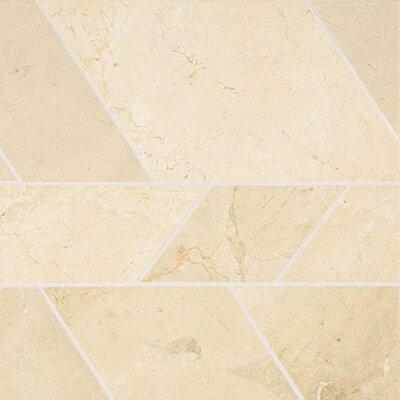 Stone Mosaics Modern 12 x 12 Polished Natural Stone Field Tile in Crema Marfil Classico