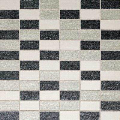 PZazz 11.75 x 11.75 Porcelain Mosaic Tile in Cool Blend