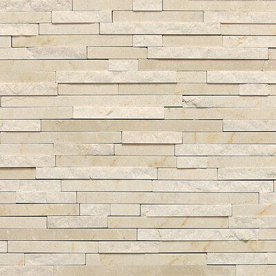 Marble Collection 3/8 x Random Sized Natural Stone Field Tile in Crema Marfil Classico