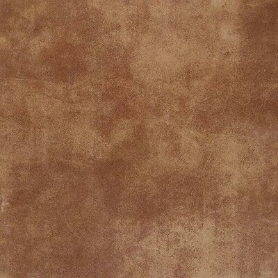 Veranda Solids 6.5 x 6.5 Porcelain Metal Look/Field Tile in Rust
