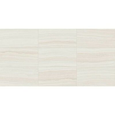 Santino 18 x 36 Porcelain Wood Look/Field Tile in Bianco