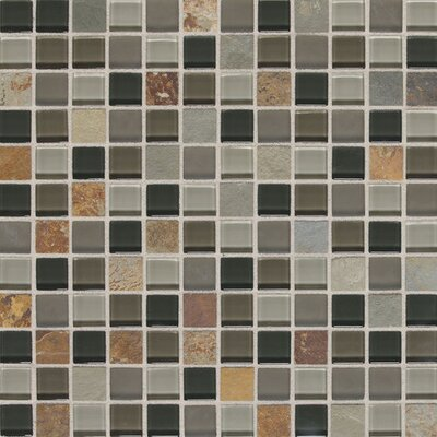Slate Radiance 1 x 1 Natural Stone Mosaic Field Tile in Flint
