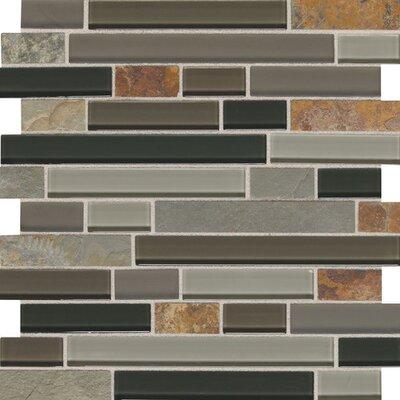 Slate Radiance 1 x Random Sized Natural Stone Mosaic Field Tile in Flint