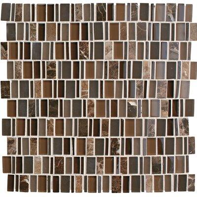 Clio 1 x Random Sized Glass Mosaic Tile in Eos