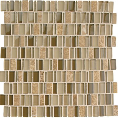 Clio 1 x Random Sized Glass Mosaic Tile in Selene