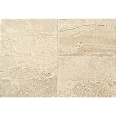 Cortona Flora 16 x 24 Porcelain Polished Glazed Field Tile in White