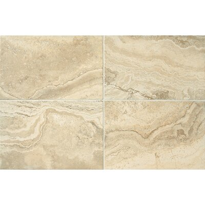 Cortona 16 x 24 Porcelain Lightly Polished Glazed Field Tile in Tuscan Sun