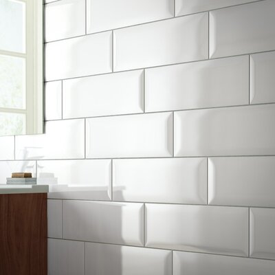 Beveled 6 x 16 Ceramic Tile in Sail