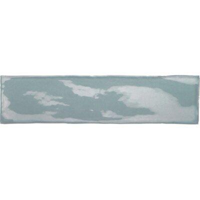 Artigiano 3 x 12 Field Tile in Gloss Stone Blue/Off-White