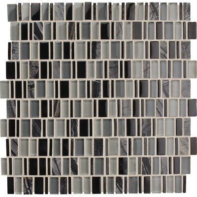 Clio Random Sized x 1 Glass Mosaic Tile in Boreas