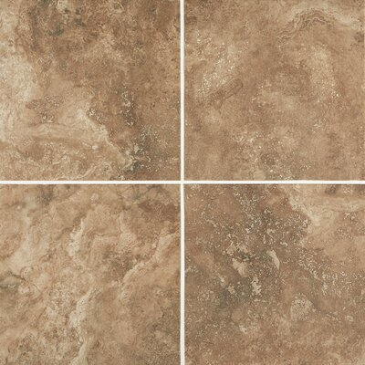 Costa Mesa 12 x 12 Porcelain Field Tile in Cottage Brown