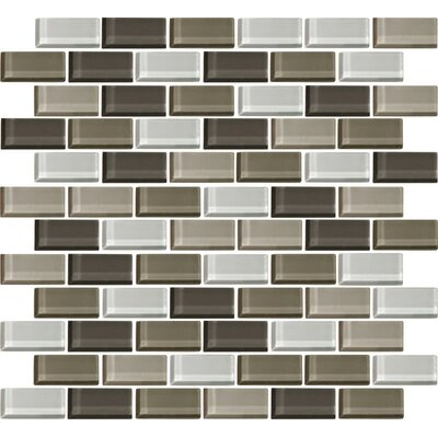 Color Wave 1 x 2 Glass Mosaic Tile in Soft Cashmere