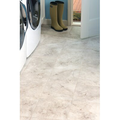 Costa Mesa 14 x 10 Glass and Metal Field Tile in Garden White