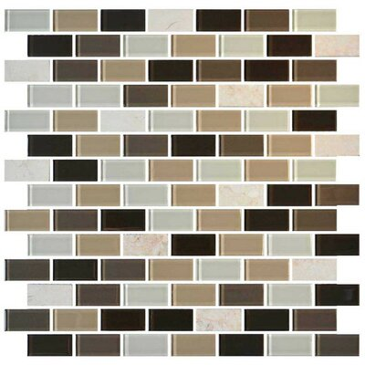 Mosaic Traditions 0.75 x 1.5 Stone Mosaic Tile in Zen Escape