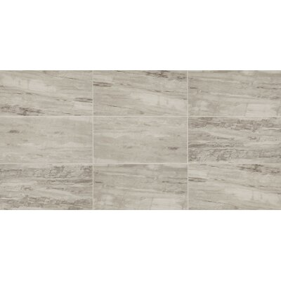 River Marble Unpolished 12 x 24 Porcelain Field Tile in Silver Springs