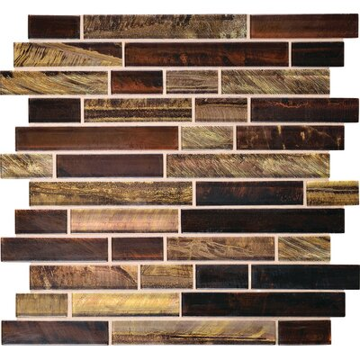 Tiger Eye 1 x Random Sized Glass Mosaic Tile in Siberian