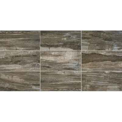 River Marble Unpolished 6 x 24 Porcelain Field Tile in Smoky River
