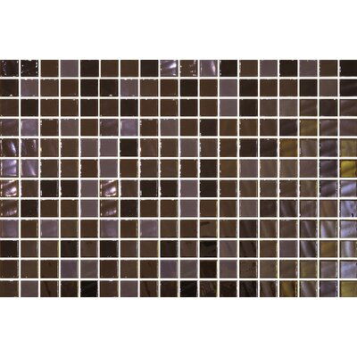 Uptown Glass 1 x 1 Mosaic Tile in Pearl Brown