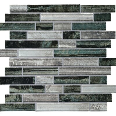 Rhodes 1 x Random Sized Glass Mosaic Tile in Indo