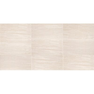 River Marble Unpolished 12 x 24 Porcelain Field Tile in River Rapids