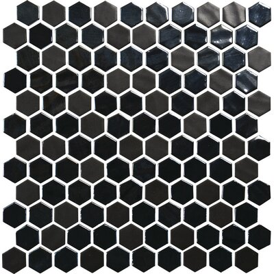 Lexington Hexagon 1 x 1 Mosaic Tile in Ebony