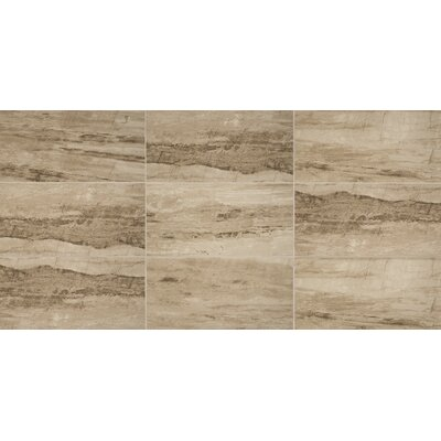 River Marble Unpolished 6 x 24 Porcelain Field Tile in Sandy Flats
