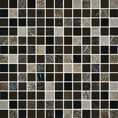 Uptown Glass 1 x 1 Mosaic Tile in Exotic Brown