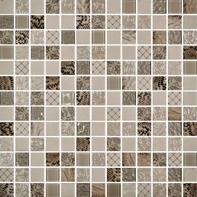 Uptown Glass 1 x 1 Mosaic Tile in Exotic Ivory