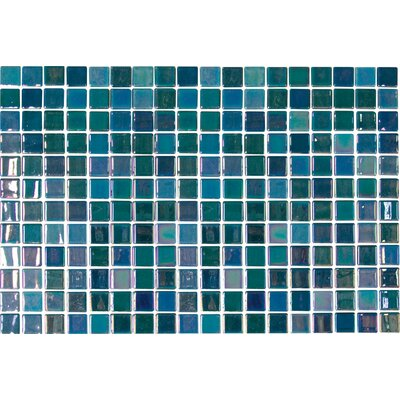 Uptown Glass 1 x 1 Mosaic Tile in Pearl Blue
