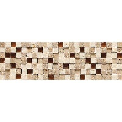 Fidenza 9 x 2 Stone and Glass Accent Decorative Border
