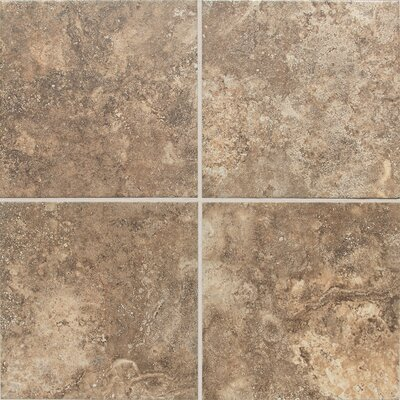 San Michele Cross Cut 12 x 12 Field Tile in Moka