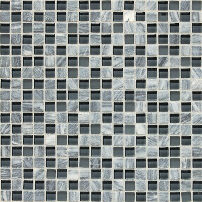Quincy 0.63 x 0.63 Slate Mosaic Tile in Glacier Gray Marble