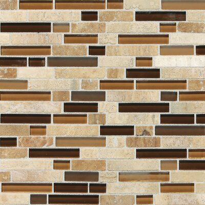 Quincy Random Sized Slate Mosaic Tile in Caramel Travertine