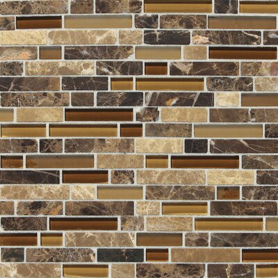 Quincy Random Sized Slate Mosaic Tile in Butternut Emperador