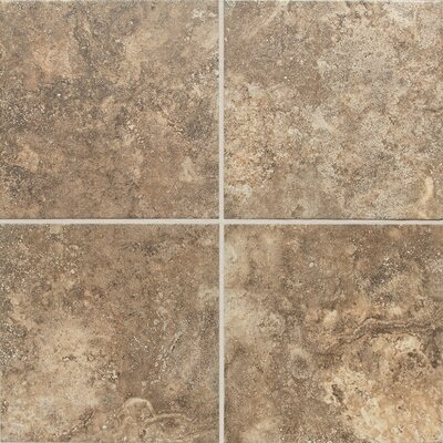 San Michele Cross Cut 24 x 24 Field Tile in Moka