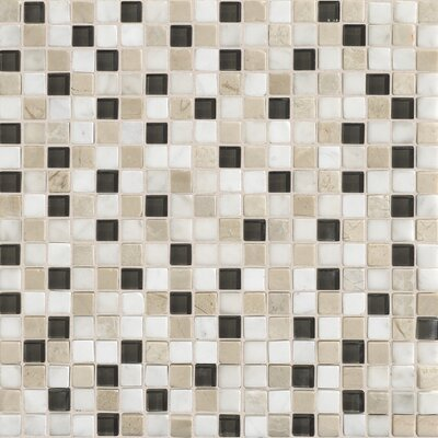 Quincy 0.63 x 0.63 Slate Mosaic Tile in Kinetic Khaki