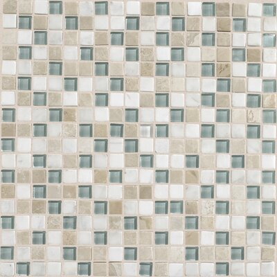 Stone Radiance 0.63 x 0.63 Slate Mosaic Tile in Whisper Green