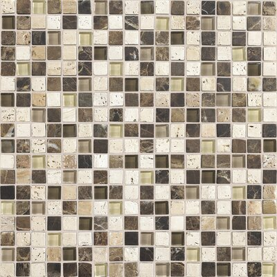 Stone Radiance 0.63 x 0.63 Slate Mosaic Tile in Multi
