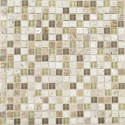 Stone Radiance 0.63 x 0.63 Slate Mosaic in Mushroom/Morning Sun