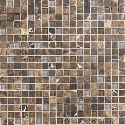 Quincy 0.63 x 0.63 Slate Mosaic in Wisteria/Tortoise