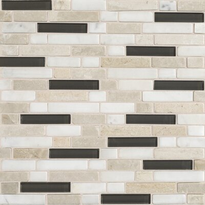 Quincy Random Sized Slate Mosaic Tile in Kinetic Khaki