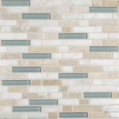 Quincy Random Sized Slate Mosaic Tile in Whisper Green