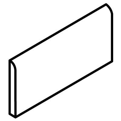 Fidenza 9 x 3 Bullnose Tile Trim in Bianco (Set of 3)