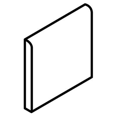 Fidenza 6 x 6 Surface Bullnose Tile Trim in Caf� (Set of 3)