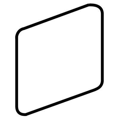 Fidenza 2 x 2 Surface Bullnose Corner Tile Trim in Bianco
